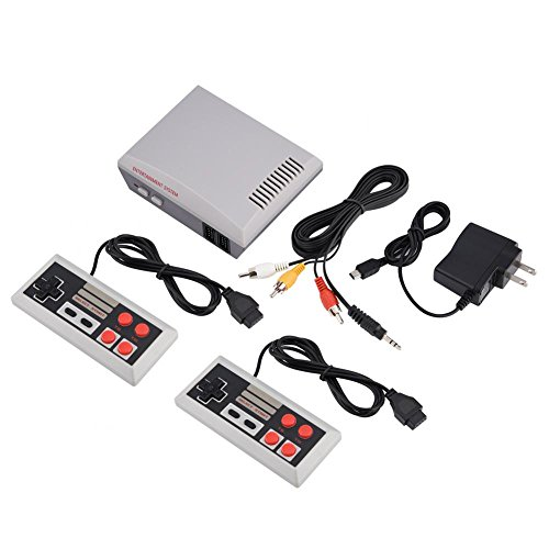 fosa Retro Video Game Console Dual Joystick Vedio TV Game System Childhood Classic Games Console HD AV Output (Game System Console Nes Video)