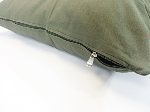 American Comfort Warehouse 36''x29'' Medium Size Removable Zippered Tough Durable Green Canvas Cover Case for Small to Medium Dogs - External Cover Only by American Comfort Warehouse