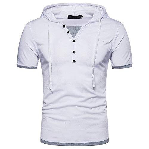 MIRRAY Ropa del DiseñO De Moda Camiseta De Manga Corta para Hombre con Capucha De Remiendo Ocasional De Verano: Amazon.es: Ropa y accesorios
