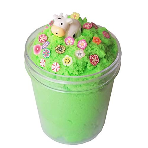- Cow in a Field Green Apple Scented Slime 4 oz Cloud Handmade Charm & Fimo Slices & Activator Package Stress For Girls/Boys Add Ins Accessories Homemade Instant Snow Non Toxic Toys For Kids