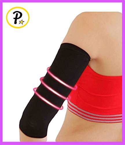 Presadee Original 1 Pair Slimming Arms Compression Sleeve Workout Toning Burn Cellulite Shaper (M/L, Black) (Best Tricep Toning Exercises)