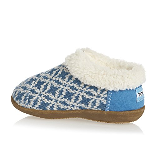 Kids Tiny House Slipper - Blue Fair Isle