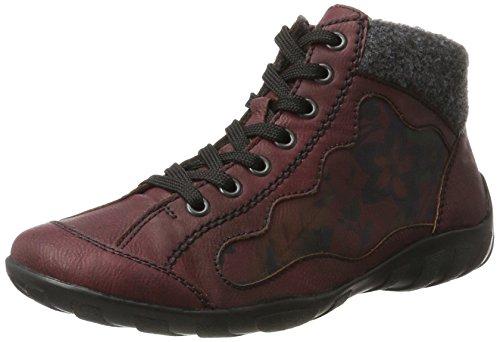 Rieker Damen L6544 Hohe Sneaker Rot (wine/wine/anthrazit)
