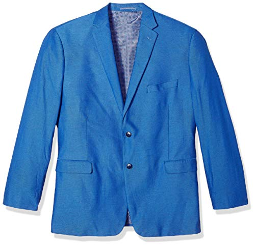 U.S. Polo Assn. Men's Big and Tall Fancy Cotton Sport Coat, Blue Dot Hopsack, 50 - 50's Dot