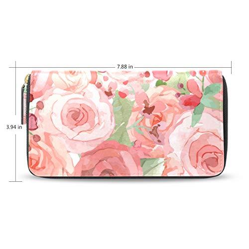 ink Rose Women's New Purse Zipper Purse Clutch Bag Card Holder New Fashion ()
