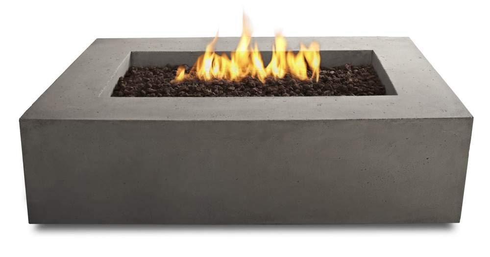 Real Flame T9650NG-GLG Baltic Rectangle Natural Gas Fire Table, Glacier Grey by Real Flame