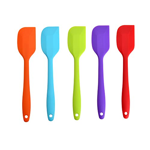 - Yizhet Silicone Spatulas - 500°F Heat Resistant Spatula Non-Stick Flexible Rubber with Solid Stainless Steel Essential Cooking Gadget and Bakeware Tool Set of 5