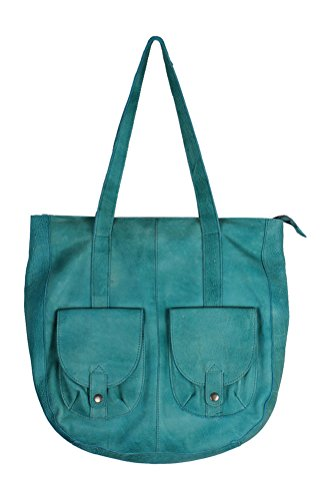 Latico Leathers Broome Tote, Mint, One Size, 100% Leather, Designer Handbag, Made In - In India Online Shop