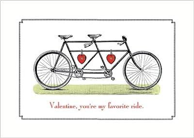 Lucca Paperworks Valentine Ride Valentine's Day Card, 5x7