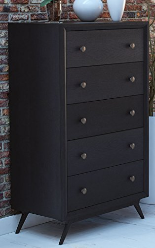 Modern Furniture Dressers (Modway Tracy Mid-Century Modern Wood Chest in Black)