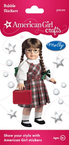 American Girl Crafts Bubble Stickers, Molly McIntire School Outfit -