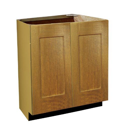 Shaker Panel Door Style Vanity Sink Base with Full Height Doors 24' Wide 21