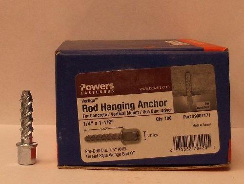 Powers Fasteners Vertigo 1/4'' 1-1/2'' Rod Hanging Anchor