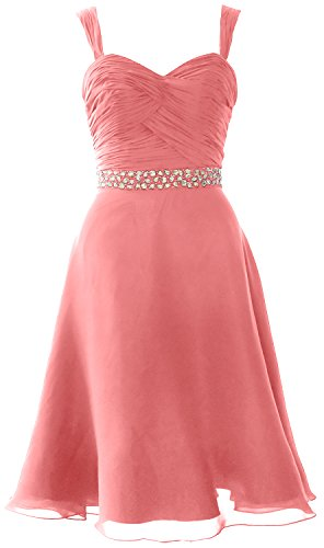 Formal MACloth Dress Elegant Party Pink Cocktail Wedding Gown Straps Chiffon Short Blush wxTUx8