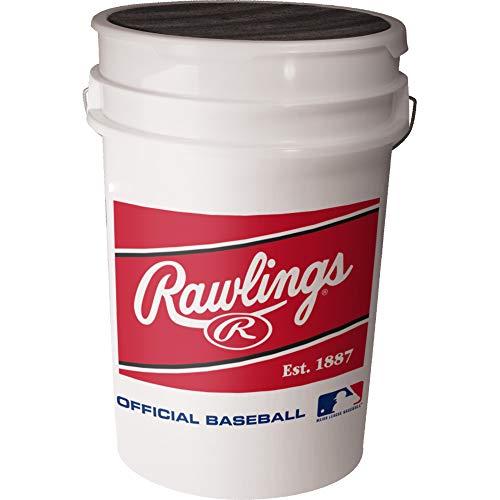 (Rawlings Practice ROLB1X 14U Practice Baseballs, 30 Pack with 6-Gallon Bucket)