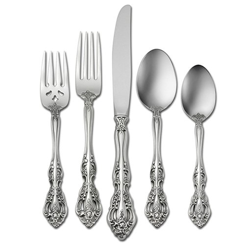 Christmas Tablescape Décor - Oneida Michelangelo 20-Pc Stainless Steel Flatware Set, Service for 4