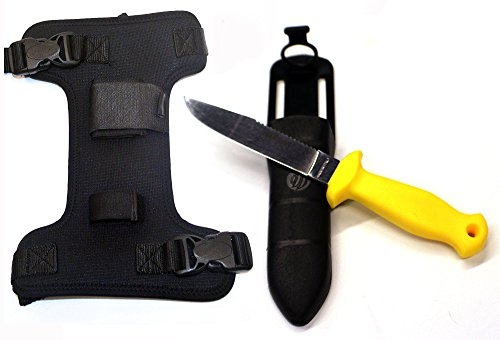 SOPRAS SUB Sub11 Yellow Dive Knife with Neoprene Holster ...