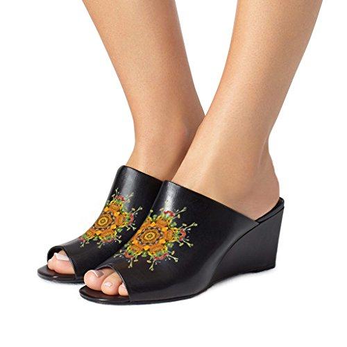 Fsj Slip Sandales Mule Toe Sur Peep Compensées Des Style Femmes Sexy r8q67r
