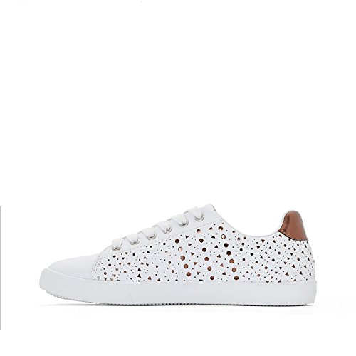 La Redoute Collections Frau Sneakers mit Perforiertem Muster Gre 38 Weiss