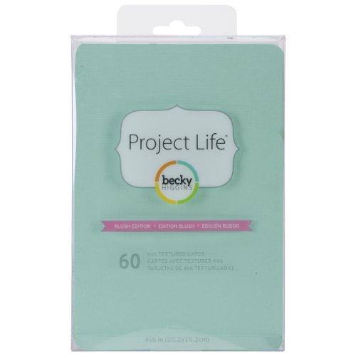 Project Life by Becky Higgins 4 X 6 Textured Cardstock - Blush Edition (Scrapbook Textured Cardstock)