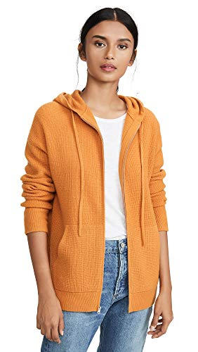 Vince Women's Thermal Hoodie, Sienna, Orange, X-Small