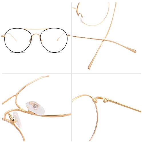 SOJOS Photochromic Blue Light Blocking Glasses Round Computer Glasses for Women Because Of You SJ5023