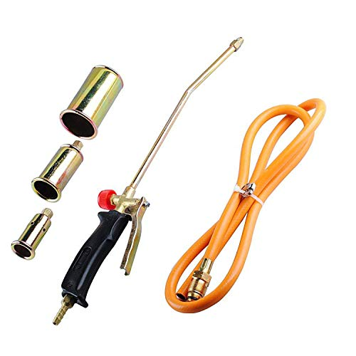 Wadoy Propane Torch Burner with 3 Nozzles Ice Snow Melting - Portable Propane Weed Torch Burner