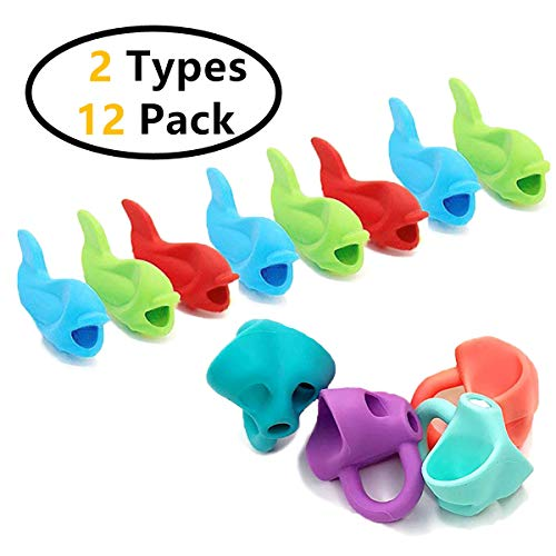 Gizhome Pencil Grip, Writing Aid Holder Pencil Grips For Kids Handwriting, New Non-Toxic Silicone Posture Correction Finger Trainer, Kids Preschoolers Children Special Needs For Left & Right Handed (1 by Gizhome