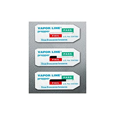 Propper Manufacturing 26900925 Vapor Line Steam Sterilization Integrator (Pack of 250)