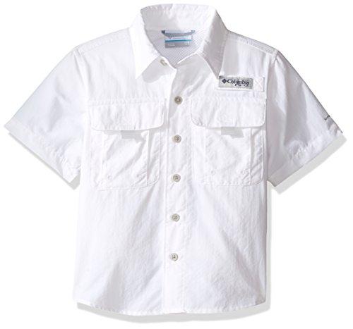 Columbia Boys Bahama Short Sleeve Shirt, X-Small, White