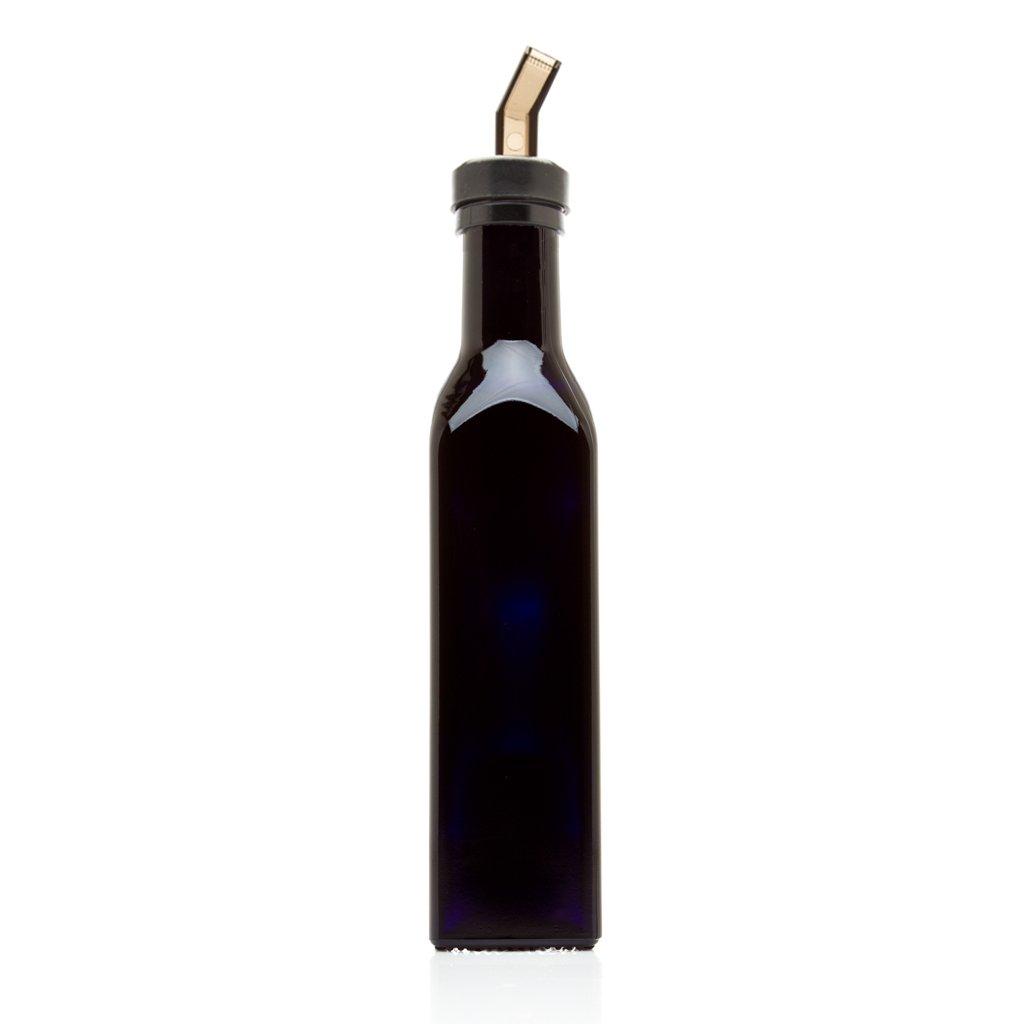 Infinity Jars 250 Ml (8.5 Oz) Square Ultraviolet Medium Sized Glass Bottle COMINHKPR142398