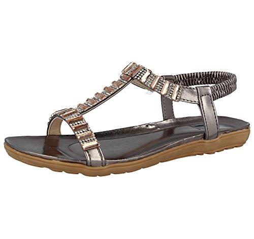 Footwear Femme Foster Jewel Sandales Pewter d01xCw