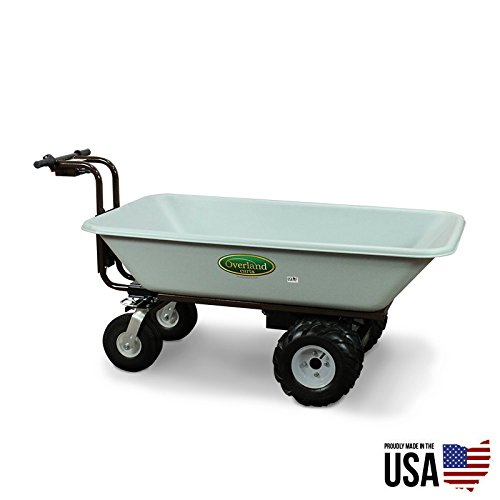 Overland Carts Heavy-Duty Powered Dump Cart with 9-Cubic-...