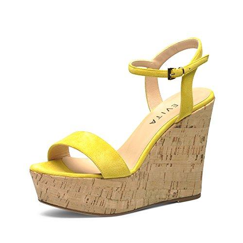 Sandali Evita Giallo Donna giallo Shoes vw5qzH5