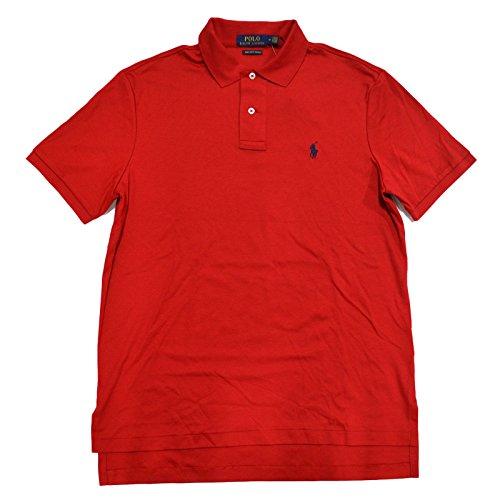 Interlock Polo (Polo Ralph Lauren Mens Pima Soft Touch Interlock Polo Shirt (Large, RL 2000 Red))
