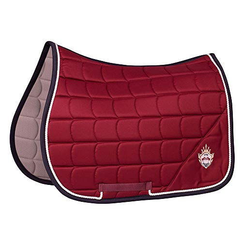 Equine Couture Owen All Purpose Saddle Pad | Horse Riding Equestrian Saddle Pad | Size- Standard | Color- Wine