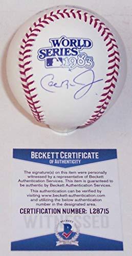 Cal Ripken Jr World Series - Cal Ripken Jr. Autographed Hand Signed Official 1983 World Series MLB Major League Baseball - BAS Beckett