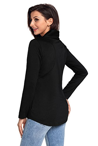 Chaqueta negro BaronHong para Casual lateral cremallera mujer Chic con w4qAH