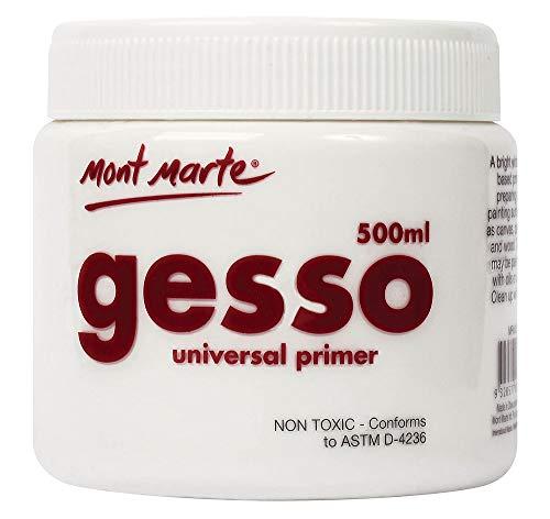 Mont Marte White Gesso Acrylic Medium, 500ml Tub
