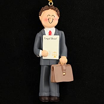 3200 Lawyer: Male Brown Ornament - Amazon.com: Legal Scale, Lawyer Personalized Christmas Ornament