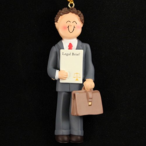 3200 Lawyer Male Brown Ornament product image