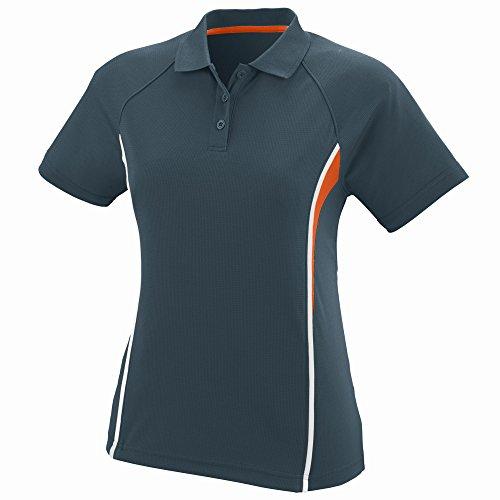 Augusta Sportswear WOMEN'S RIVAL SPORT SHIRT 2XL Slate/Orange/White