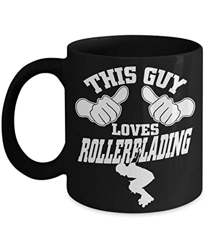This Guy loved Rollerblading| fake Rollerskating stuff| rollerskated irthday gifr gor someone into rollerskating party plates