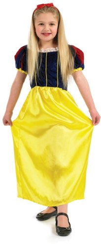 Snow White Childrens Costume Uk (Snow White Childs Fancy Dress Costume - XL 58inch Height)