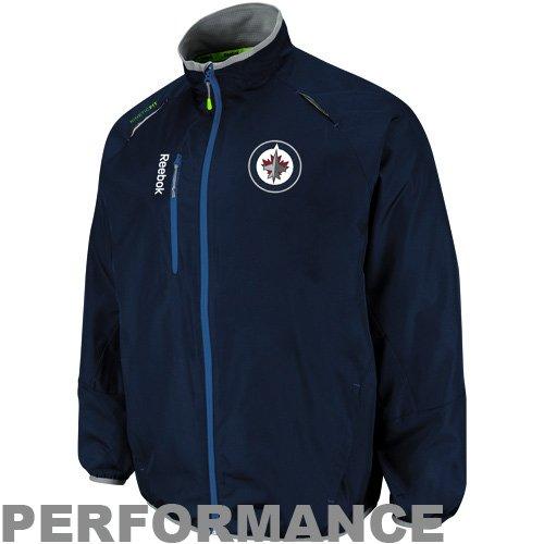 NHL Reebok Winnipeg Jets Rink Performance Full Zip Jacket - Navy Blue (XX-Large)