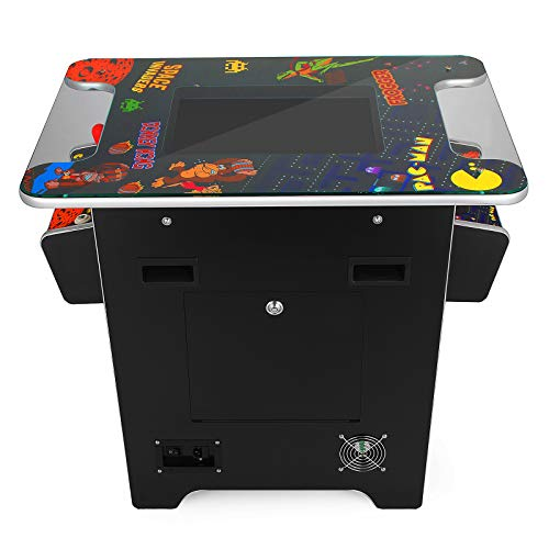 VEVOR Cocktail Arcade Game Machine with 60 Games 19 Inch Screen Classic Arcade Game Cabinet Home Commercial Settable Cocktail Table Retro Game by VEVOR (Image #4)