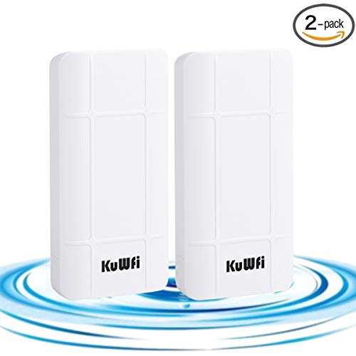 Outdoor Wireless Portable CPE/AP Router Waterproof Easy Setup Point to Point 1 KM Long Distance Transmission Wireless Bridge Kit