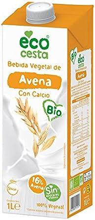 Ecocesta bebida vegetal de avena con calcio Bio 1L (BIO): Amazon.es: Alimentación y bebidas