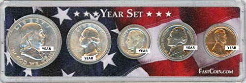 - 1953 Coin Year Set in Custom Case with American Flag - Great Gift for Any Occasion