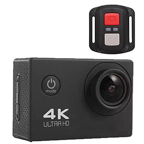 TOPmountain Cámara De Acción 4K Cámara Impermeable para Deportes, WiFi 2.4G con Control Remoto Video Dv Camera para Viajes...